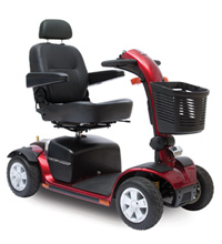 4-Wheeled Pride Mobility Scooter, Red