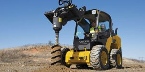 MC 110 Skid Steer Rentals with auger attachments