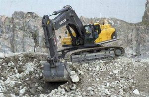 Volvo Excavator On Job Site