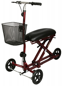 Three Wheeled Knee Scooter With Basket