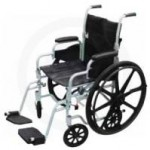 Manual Wheelchair With Footrests.