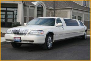 White Chocolate Limousine Rental Exterior
