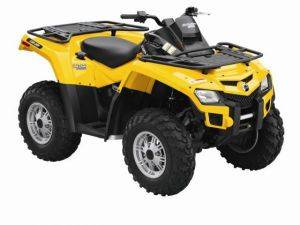 yellow Can-Am ATV
