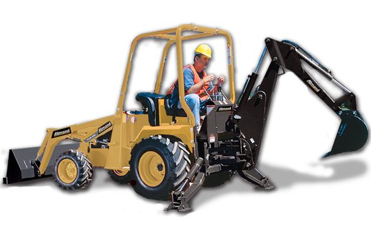 Allmand TLB 220 Compact Tractor Backhoe Loader