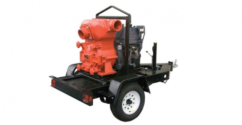 Trash Pump on Towable Trailer
