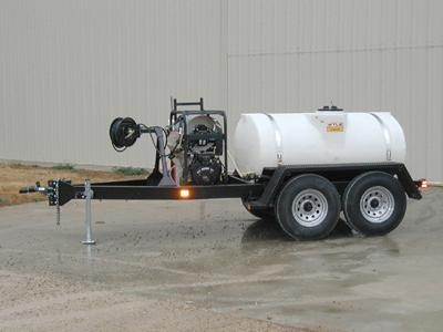 500Gallon Capacity Trailer Mounted Pressure Washer
