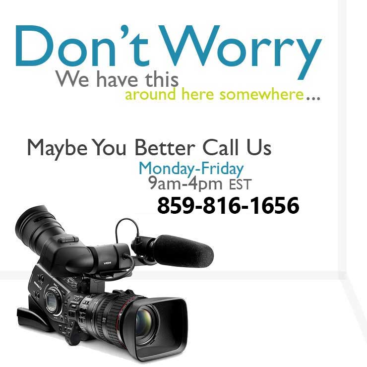 Call us for Broadcast Rentals