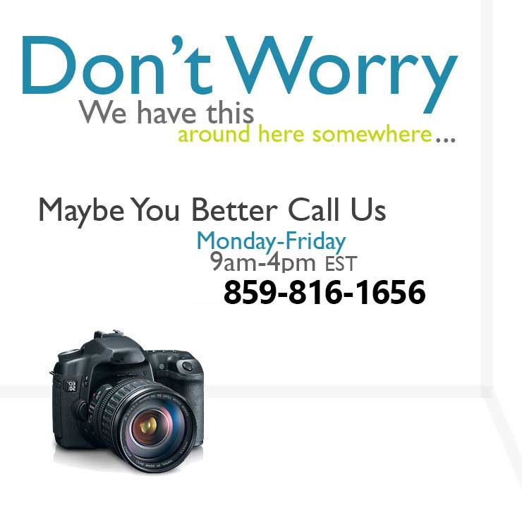 Call us for Camera Equipment Rentals