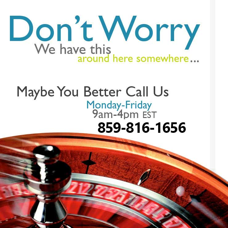 Call us for Casino Rentals
