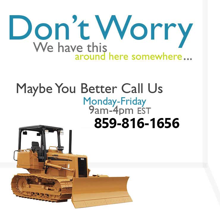 Call us for Heavy Equipment Rentals