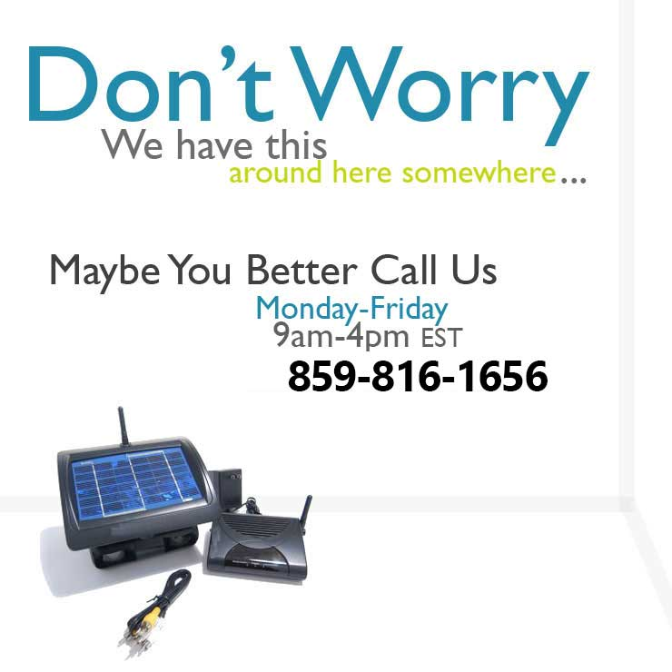 Call us for Surveillance Rentals