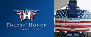 Folds of Honor Partners with Volvo Rents to Help Families of Wounded Veterans