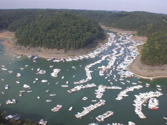 Lake Cumberland during Poker Run Weekend