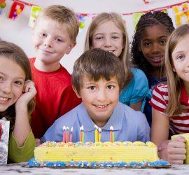 Children Celebrating Birthday