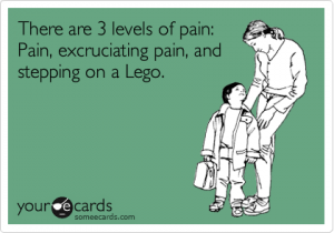Stepping on a LEGO