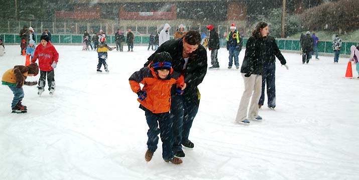 Father and Ice Skating