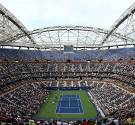 Drone crash halts U.S. Open match