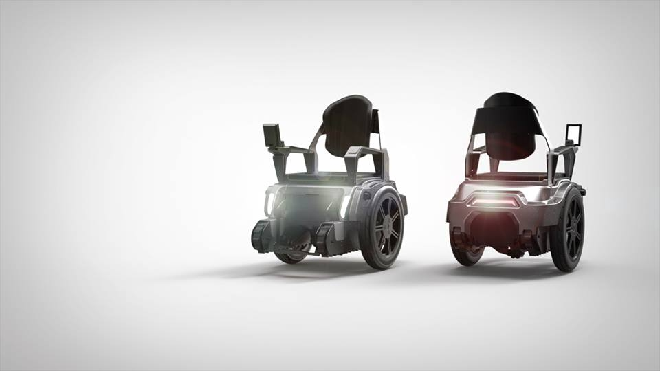 Electric wheelchair can climb stairs